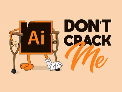 Cracked Illustrator crack piratesoft pirate orange letter card flyer sticker typorgtaphy adobe illustrator duck illustration