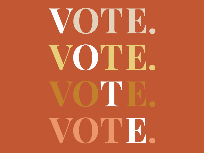 VOTE! typography creative boho branding graphic design design illustration