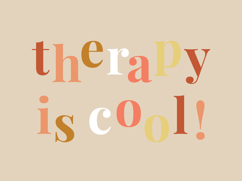 therapy is cool! vector dribbble typography boho branding creative graphic design design illustration