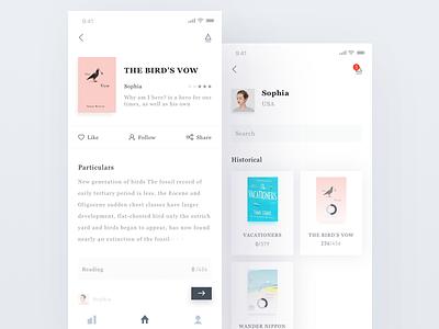 Reading class app center personal bookcase ui ue reading masterwork literature fiction book app