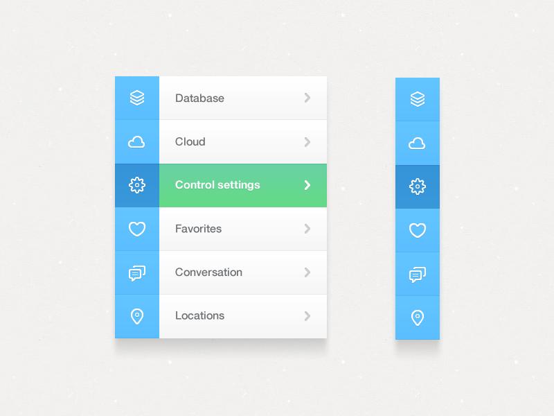 Navigation blue green ui interface navigation nav menu adobe fireworks fireworks