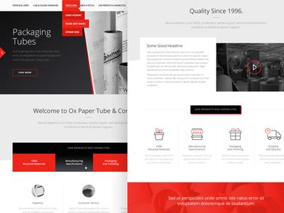 Website Design (WIP) adobe fireworks fireworks black red white home page landing page video slider tabs layout