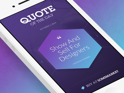 Quote Of The Day ui ios iphone fireworks adobe fireworks quote buy