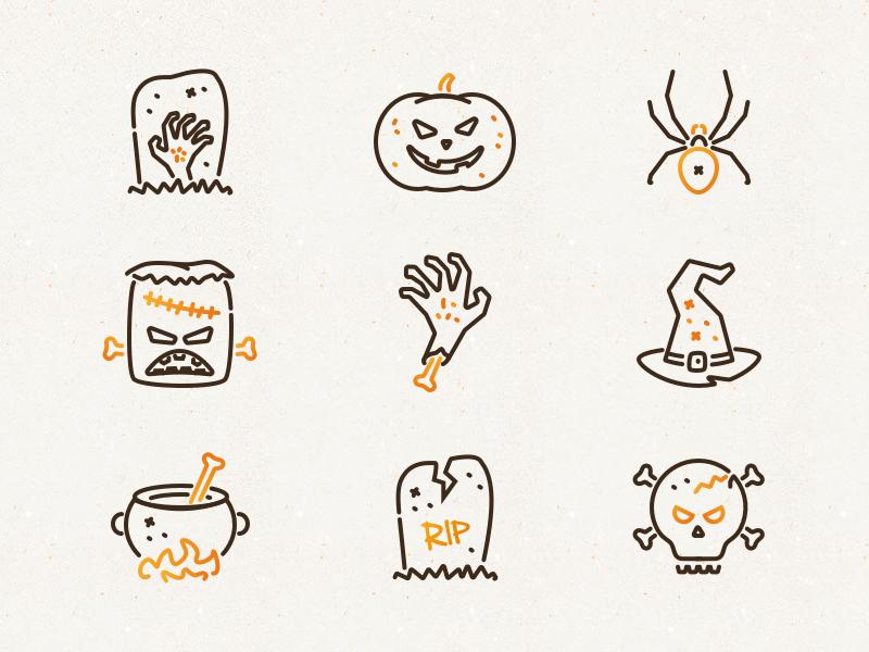 Halloween icons drbl