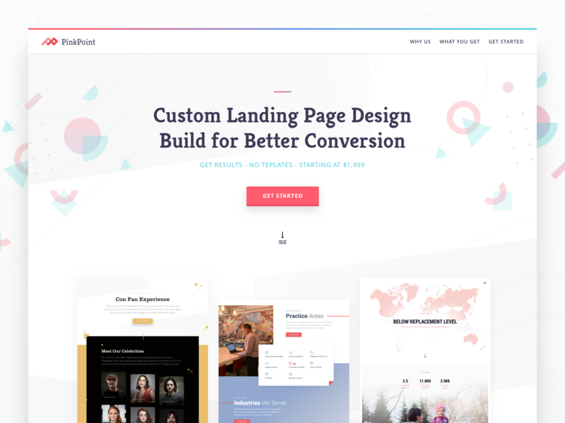Custom Landing Page Designs background pattern vector sketch colorful design colorful clean simple onepage landing page design landing page