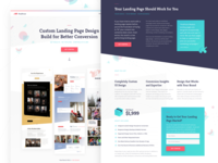 Landing Page Design landing page landing page design onepage simple clean colorful colorful design sketch vector background pattern