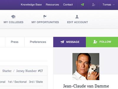 Dashboard (public profile) fireworks adobe fireworks icons navigation menu button ui dashboard follow message tabs