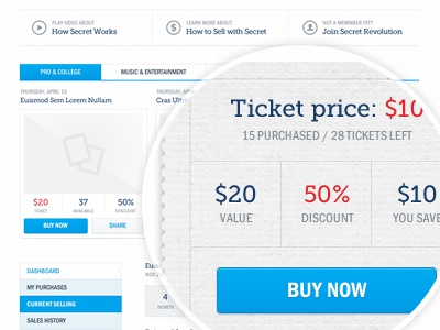 UI Elements ui clean light subtle kit pack blue red button interface drop down price ticket box thumb share search check tabs process adobe fireworks fireworks buy