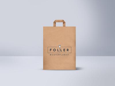 Master Floristics - Shopping Paper Bag paperbag paper bag flowers ci logo