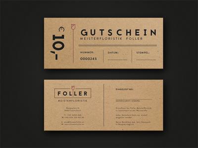 Voucher - Master Floristics voucher handcrafted paper logo flowers ci