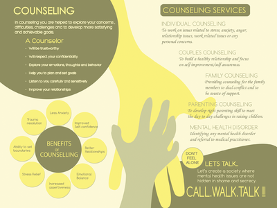 Brochure for Psychotherapy counseling