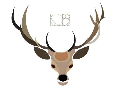 Deer in Golden ratio