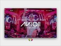 Avicii Landing Page - Tribute To AVICII