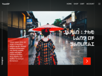 Japan Land Of Samurai The Travel Agency Landing Page