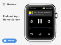 Podcast App concept for Apple watch