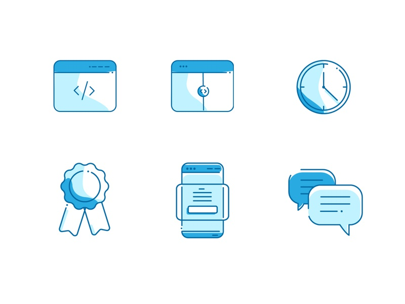 Blue Icon Set color design vector turquoise icon graphic design web time icons design blue website iconset icons
