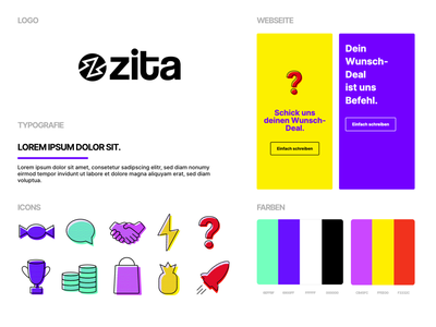 Colorful Style Guide coloful web website typography icons logo webdesign ui color design branding