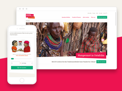 NGO Website – HelpAge Deutschland geometric ux ui color range slider donation ngo layout webdesign