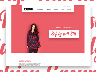Fashion Brand Identity – draft 2 color website screen typography ux ui webdesign design interface identity branding fashion