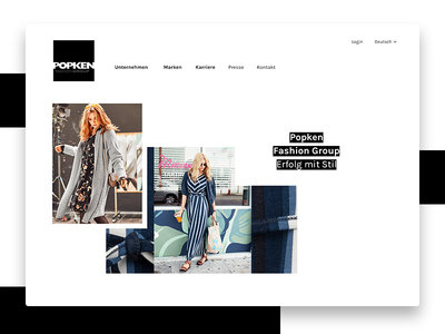 Fashion Brand Identity – draft 3 white black website typography ux ui webdesign design interface identity branding fashion