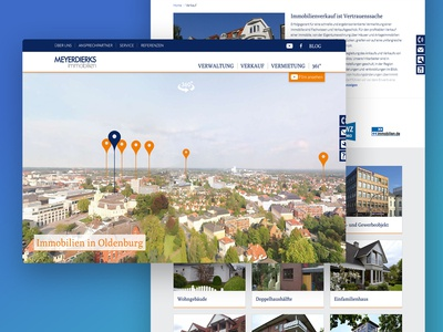 Real Estate Agent Website with 360° Image Viewer