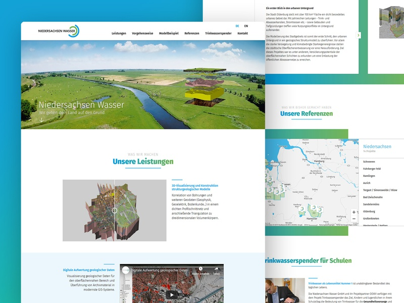 Geography and 3D Visualization Company Website color website company full width slider maps content design blue whitespace