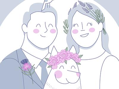 Wedding Invite Illo wedding invitations illustration