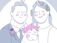 Wedding Invite Illo