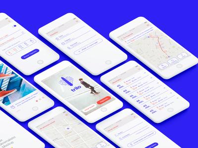 Trilo app ios android iphone graphics public transport ui ux app