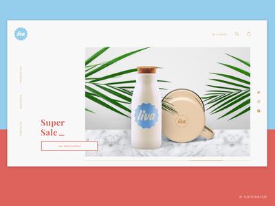 Brand + UX/UI for Liva e-commerce ! web simple decor home layout ecommerce branding ui ux