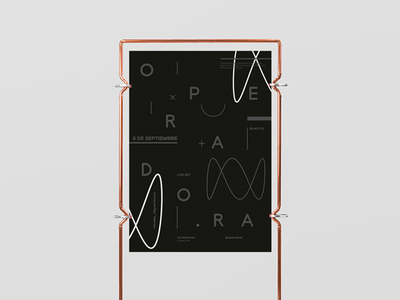 Operadora Poster branding typography grid experimental electronic music logo poster