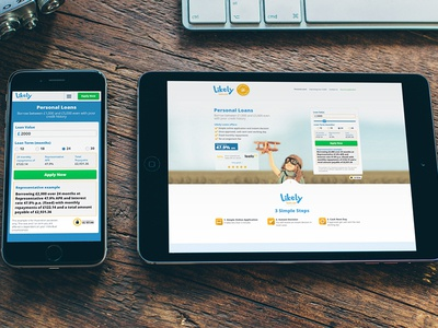 Likely Loans ux web design