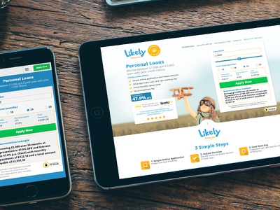 Likely Loans web design ux