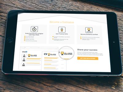 DotNative landing page mobile web design ux