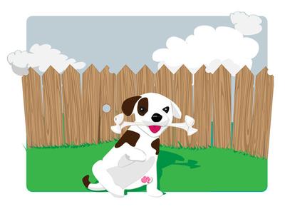 Pawsome vector bone dog jack russell