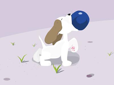 Teemo dog cute vector ball puppy