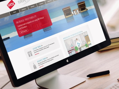 WEX corporate mobile web design ui design