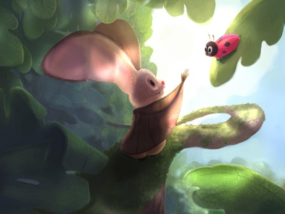 Snaggle Tooth illustration character design character insect ladybug bat