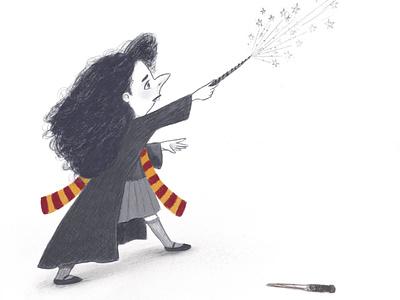 Expelliarmous! procreate fanart sketch cartoon hermione drawing harrypotter