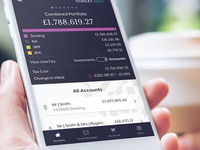 Trading  Accounts App ui ux investment investing ux design ui design mobile app fin tech