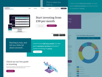 Home Redesign figma onboarding ui design clean investing finance natural language ui
