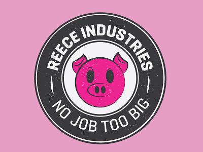 Reece Industries vector logo design logo branding lettering illustration type typography design