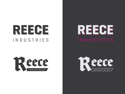 Reece Industries logo vector logo design branding illustration type design typography