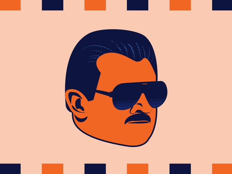 Da Coach digital illustration vector design illustration illustrator digital art mike ditka ditka