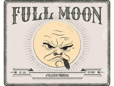 Full Moon Label
