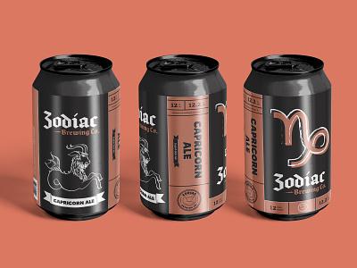Zodiac Brewing Co. - Capricorn craft beer branding and identity branding design beer art beer can beer branding beer label beer logo logo design branding illustration design