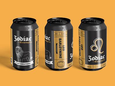 Zodiac Brewing Co. - Leo label label design packaging beer art beer label beer branding beer can beer vector logo logo design branding illustration type design