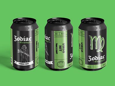 Zodiac Brewing Co. - Virgo brewery branding brewery logo beer can design beer label packaging illustration beer
