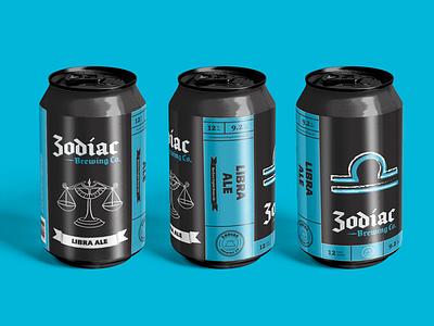 Zodiac Brewing Co. - Libra label design beer label craft beer brewery branding logo brewery packaging beer illustration