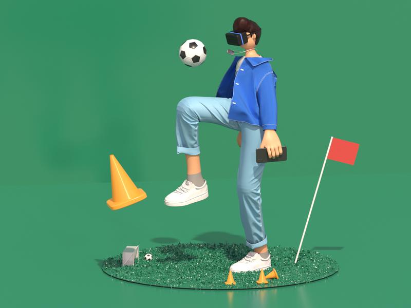 VR Football boy